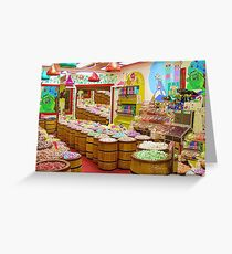 """Candyland"" A buffet of sweets ! Greeting Card"