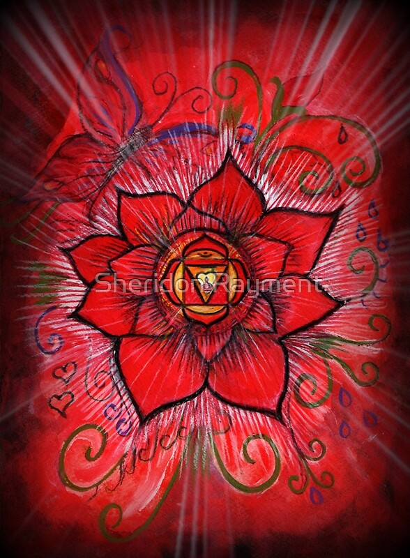 Root chakra red lotus flower framed prints by sheridon rayment root chakra red lotus flower by sheridon rayment mightylinksfo