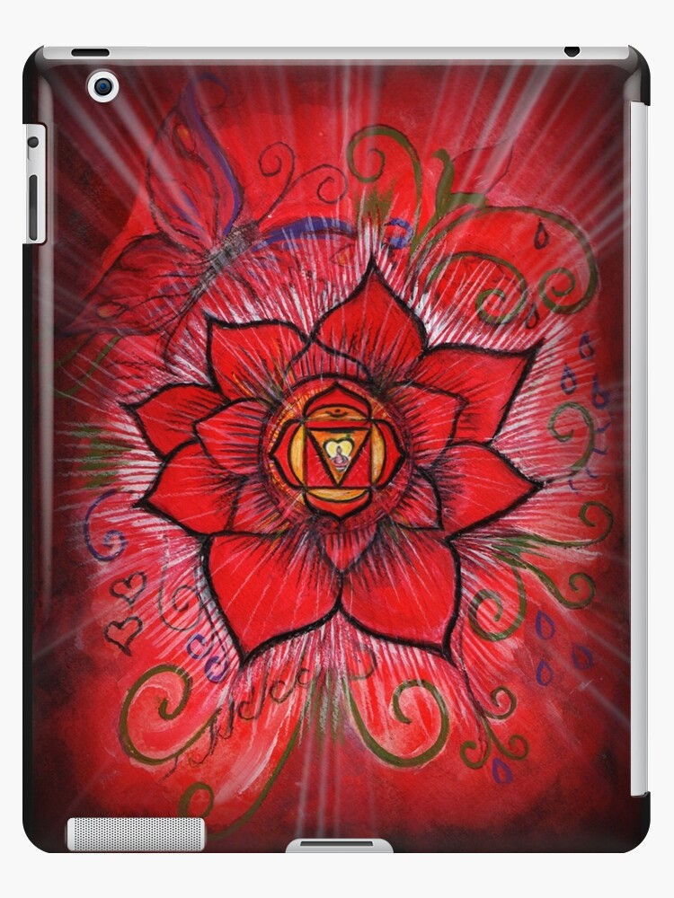 Root chakra red lotus flower ipad cases skins by sheridon rayment root chakra red lotus flower by sheridon rayment mightylinksfo