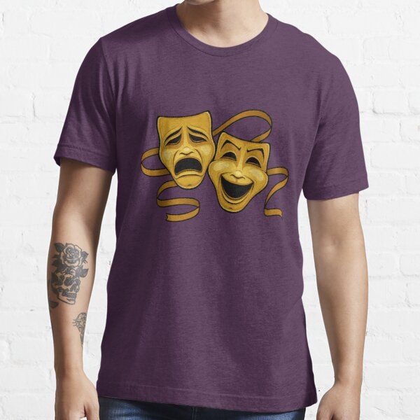 Gold Comedy And Tragedy Theater Masks Essential T-Shirt