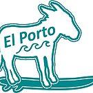 El Porto surfing donkey by divotomezove