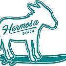 Hermosa beach surfing donkey by divotomezove