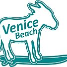 Venice Beach surfing donkey by divotomezove