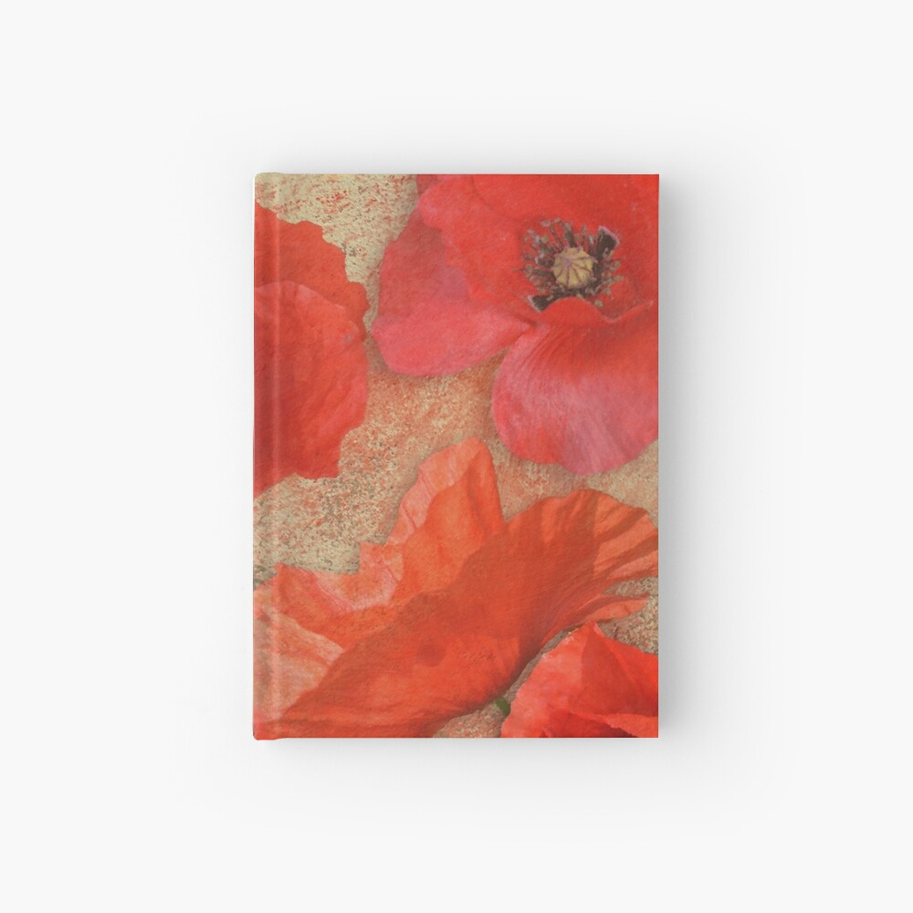 Red as poppies can be Hardcover Journal