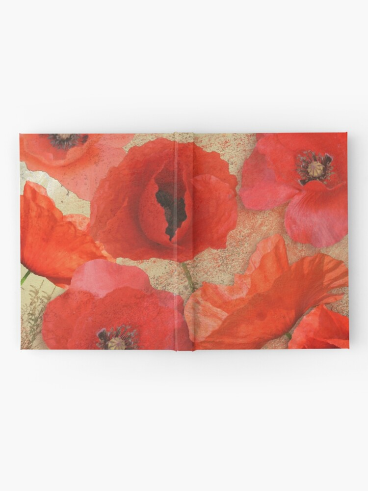 Alternate view of Red as poppies can be Hardcover Journal