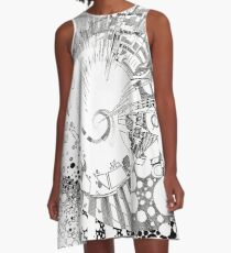The Tender Sounds of Nature - Illustration A-Line Dress