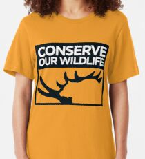 Conserve Our Wildlife Slim Fit T-Shirt