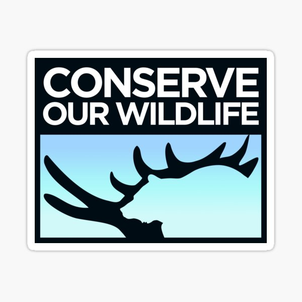 Conserve Our Wildlife Sticker