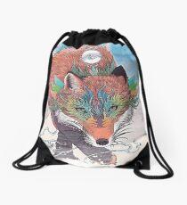 Kitsune Drawstring Bag