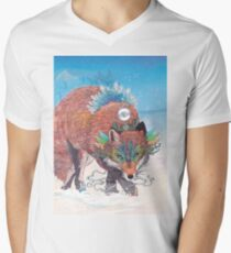 Kitsune V-Neck T-Shirt