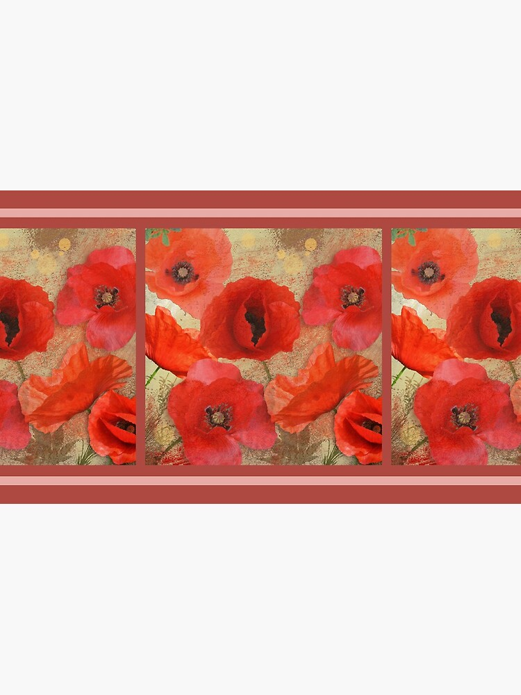 Red as poppies can be by walstraasart