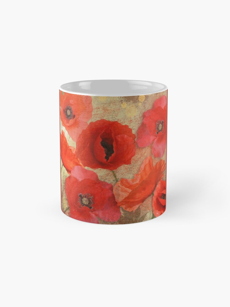 Alternate view of Red as poppies can be Mug