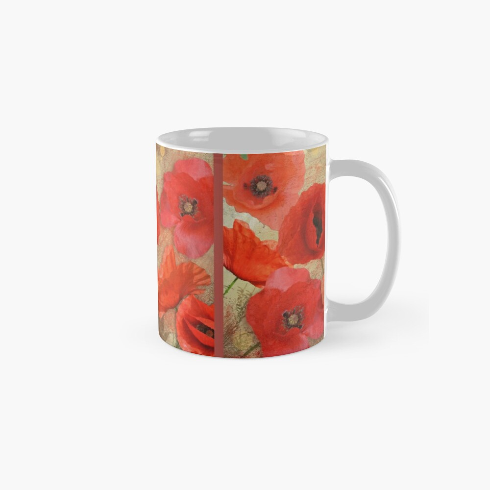 Red as poppies can be Mug