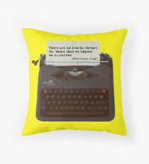 There are no Limits, Walter Bishop Quote Throw Pillow
