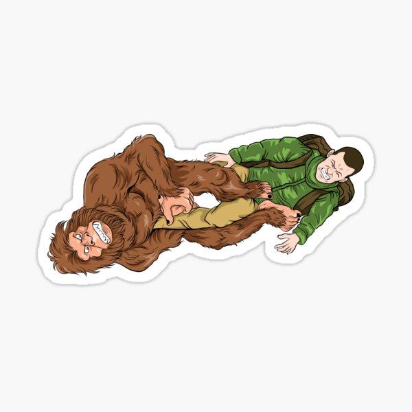 Awesome BJJ Bigfoot Footlock Hiker Jiu-Jitsu  Sticker