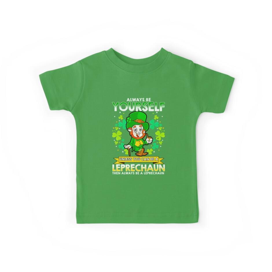 Patricks Day Funny Toddler//Kids Long Sleeve T-Shirt 3T Green Flossing Leprechaun St