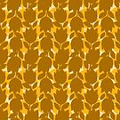 Yellow Bold Silhouette Floral Pattern by daniteal
