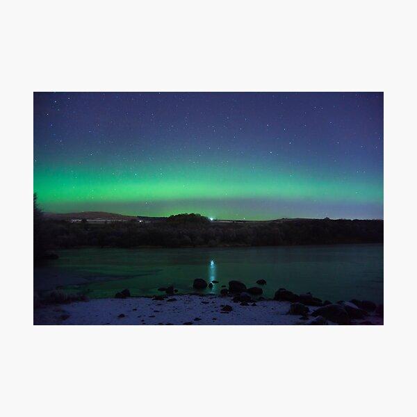 Banton Loch Aurora  Photographic Print