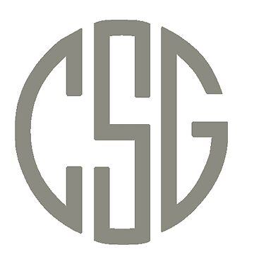 CSG Monogram - Light Gray by MorganNicole021