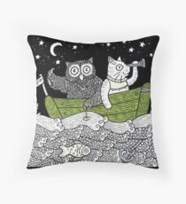 The Owl & The Pussycat Went to Sea Throw Pillow