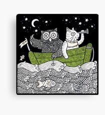 The Owl & The Pussycat Went to Sea Canvas Print