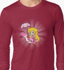Yoshi and Chibi Peach Long Sleeve T-Shirt