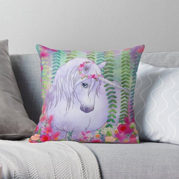 Unicorn paradise Throw Pillow