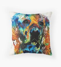 Colorful Dog Art - Heart And Soul - By Sharon Cummings Throw Pillow