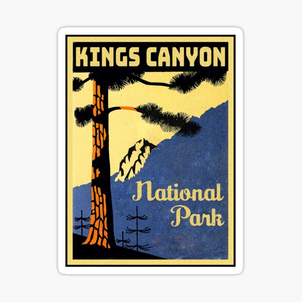 Kings Canyon National Park Vintage Sticker