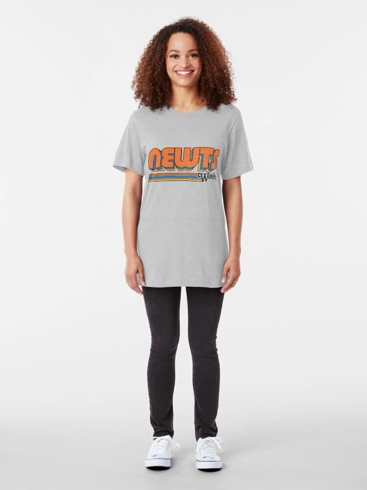 Alternate view of Newts Week Slim Fit T-Shirt