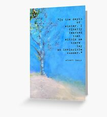 In the Depth of Winter: Landscape Painting Greeting Card Greeting Card