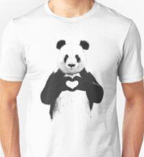 Tout ce dont tu as besoin c'est de l'amour T-shirt unisexe