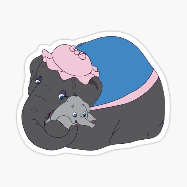 Dumbo y la señora Jumbo Pegatina