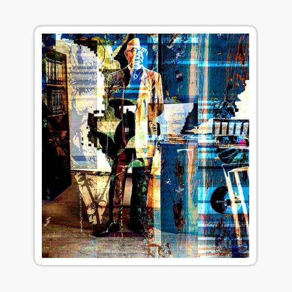 Dreamed I saw Theodor Adorno last night (pattern) Sticker