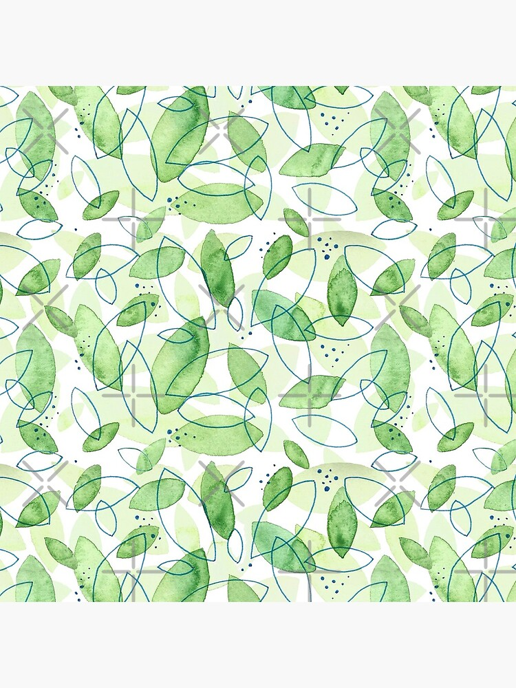 Hand Painted Watercolor Leaf Pattern - Content Mint by annieparsons