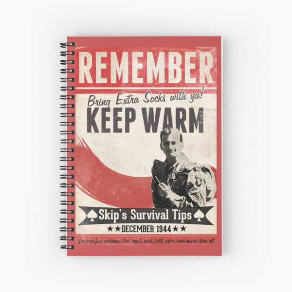 Skip Band of Brothers Keep Warm Poster Spiral Notebook