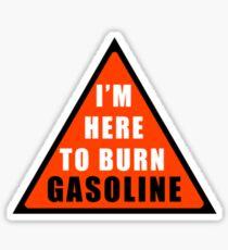 GASOLINE DANGER STICKER FOR BIKE Sticker