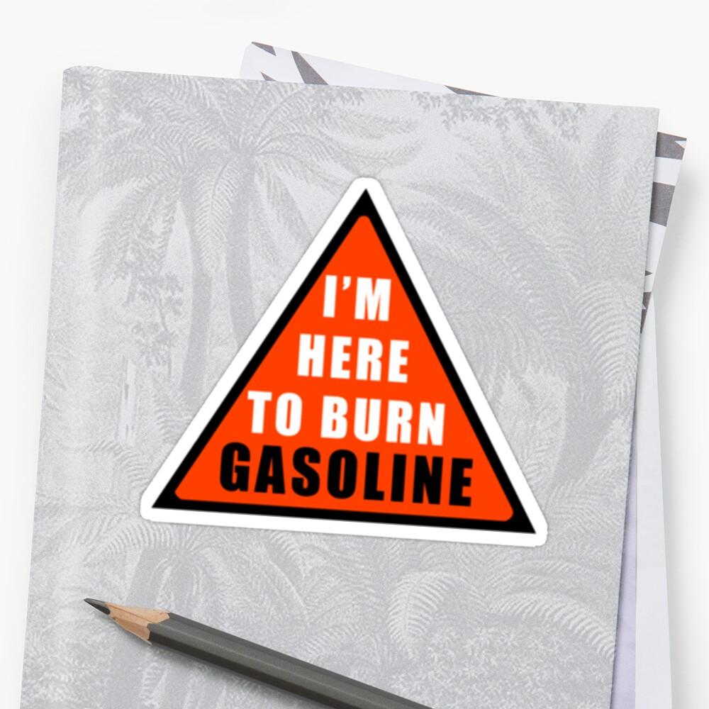 GASOLINE DANGER STICKER FOR BIKE by VisualAffection