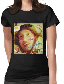 Kawaii LSD Face SKYSCRAPER Womens Fitted T-Shirt