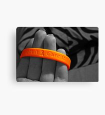 cure cancer Canvas Print
