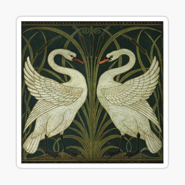 Art Deco - Swan, Rush, and Iris Sticker