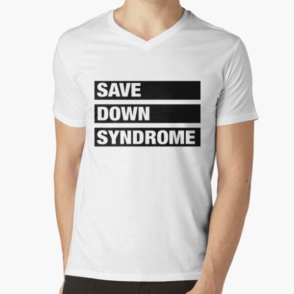 Save Down Syndrome Logo V-Neck T-Shirt