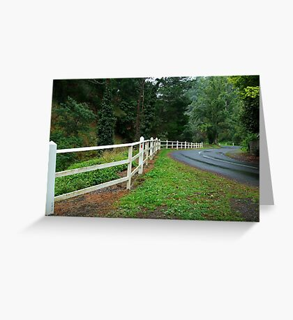 Sweeping into Walhalla,Gippsland Greeting Card