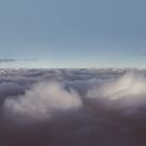 Panorama of clouds over sky by Victoria Avvacumova