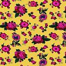 «Fondo de textura de color amarillo y rosa» de designersara