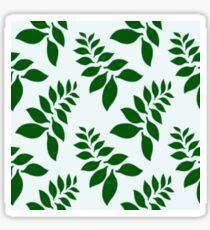 Cute Leaf fern Pattern Design Sticker