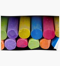 Colored chalk Poster