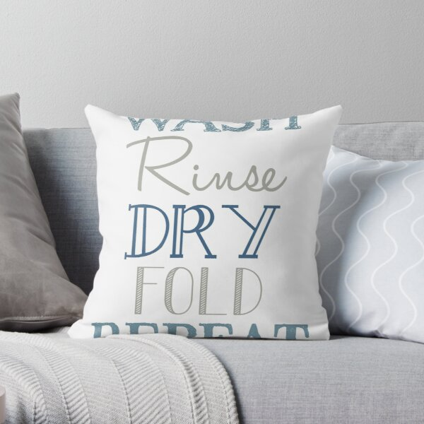 Laundry Room Subway Art Poster Throw Pillow