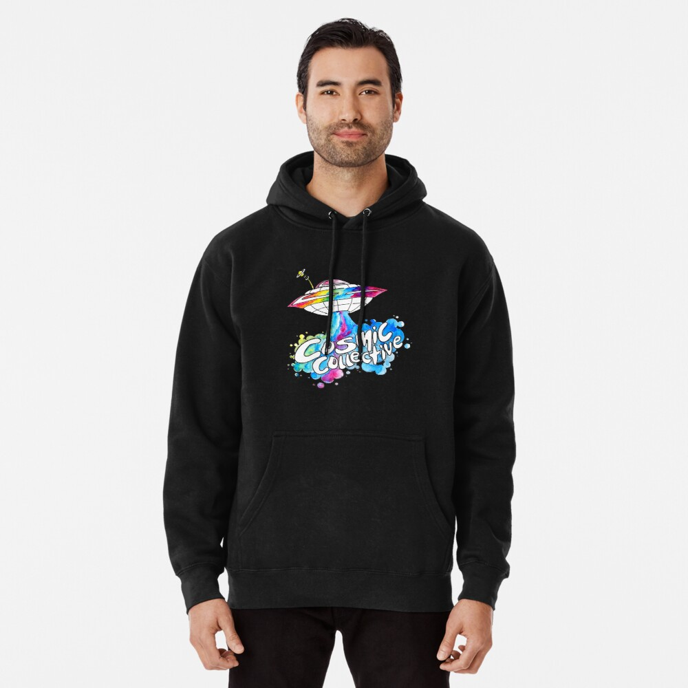 the Cosmic Space Ship Pullover Hoodie