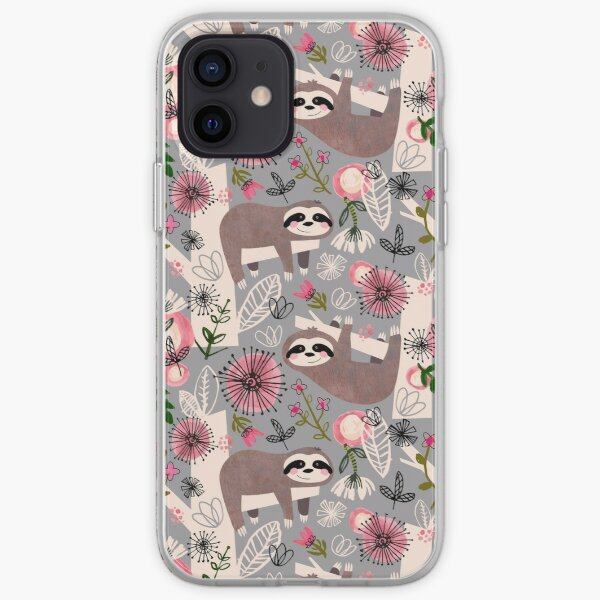 Lovable Sloths iPhone Soft Case